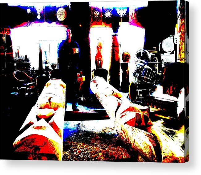 Artist Acrylic Print featuring the photograph The Artist's Forge by Eric Singleton