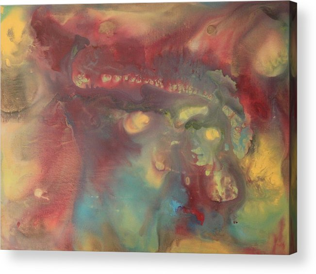 Acrylic Print featuring the painting The Beginning by Kimberly Snodgrass