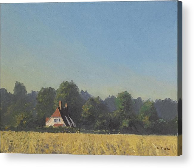 Landscape Trees Acrylic Print featuring the painting The Crooked Billet by Richard Picton