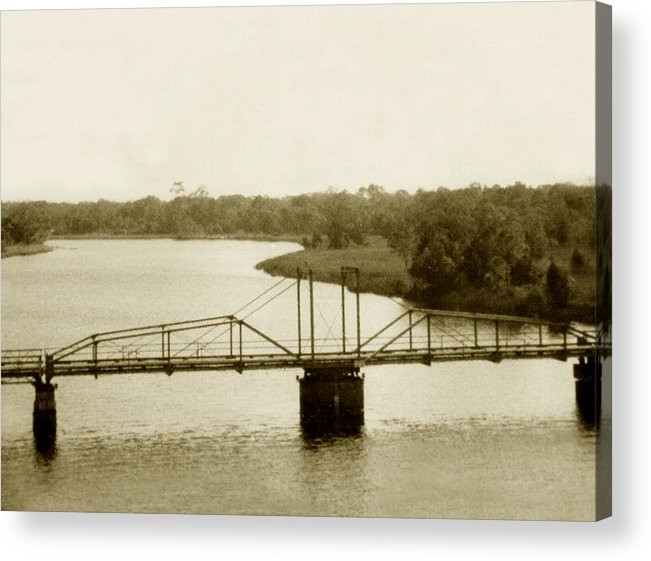 River Acrylic Print featuring the painting The Old Bridge by Debbie May