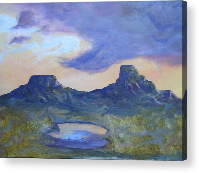 Landscape Acrylic Print featuring the painting The Rez After The Rain- Commision For Nigel And Laura by Ernie Scott- Dust Rising Studios