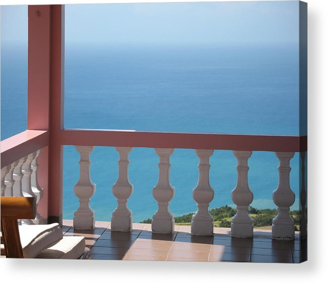 Terrace Acrylic Print featuring the photograph The Terrace by France Garrido