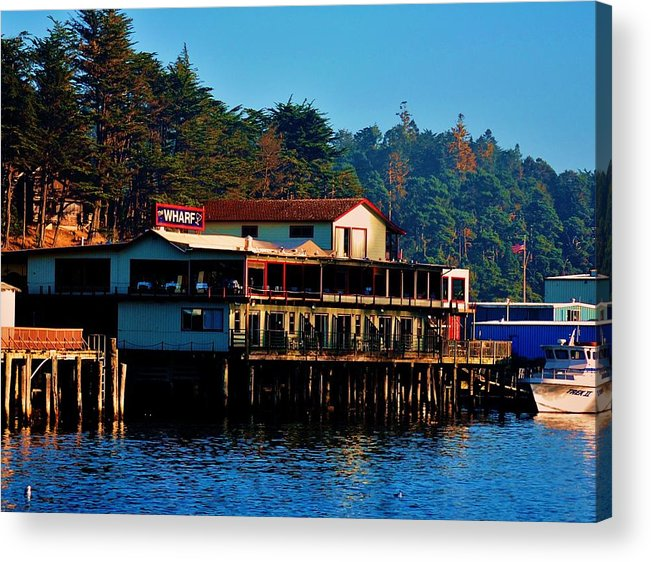 Marina Acrylic Print featuring the photograph The Wharf by Helen Carson