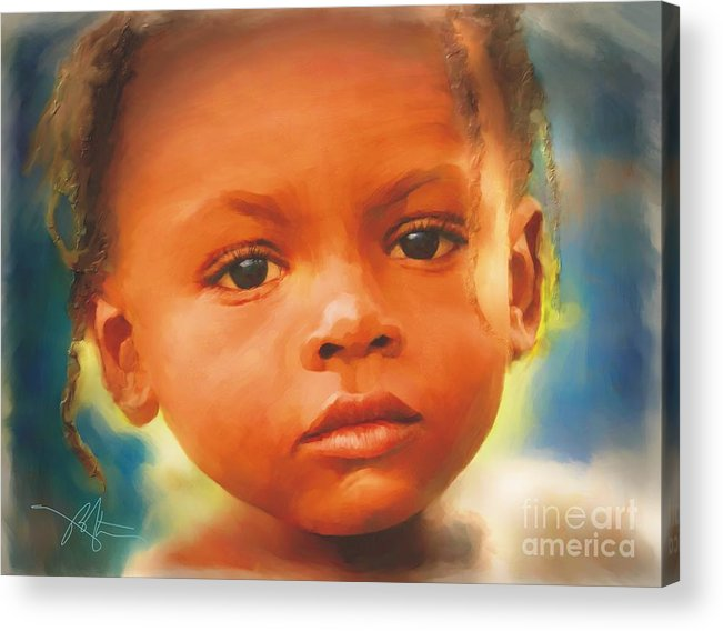 Haiti Acrylic Print featuring the painting Through My Eyes by Bob Salo
