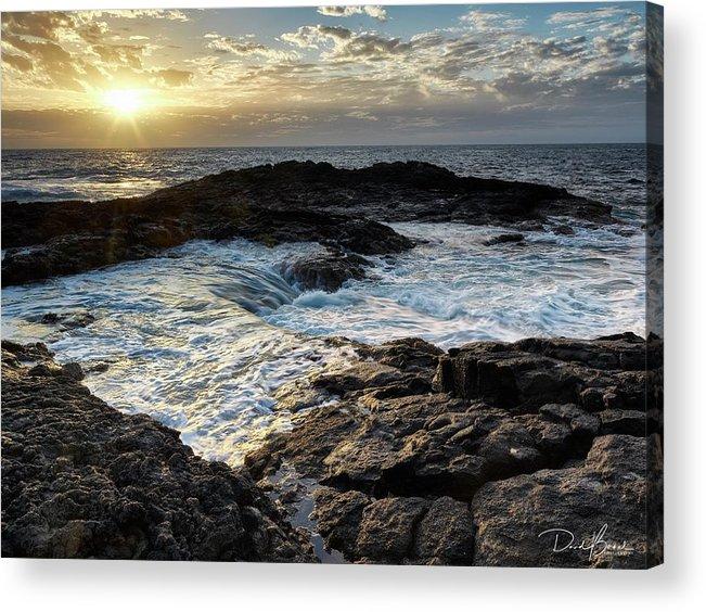 Sunset Acrylic Print featuring the photograph Tidal Pool Sunset by David Bernal