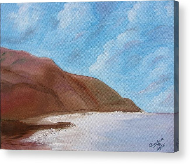 Landscape Acrylic Print featuring the painting Tranquil Ocean by Liz Vernand