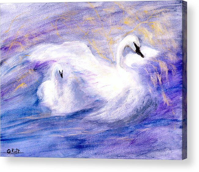 Birds Acrylic Print featuring the painting Transformation by Gail Kirtz