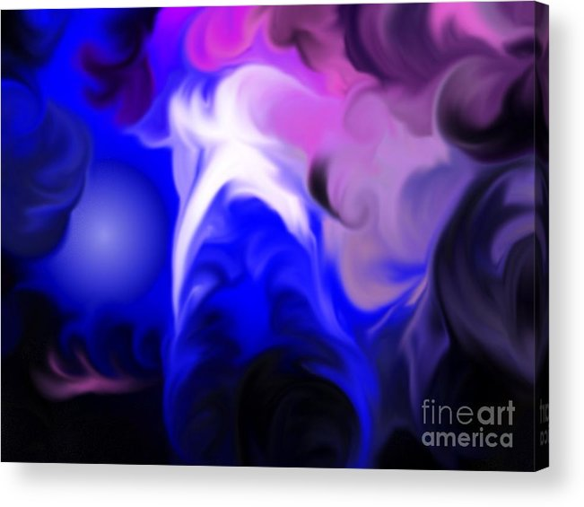 Swirl Acrylic Print featuring the painting Travel by Roxy Riou