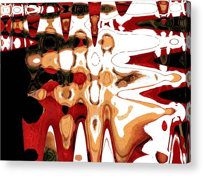 Abrstract Acrylic Print featuring the digital art Untitled by LeeAnn Alexander