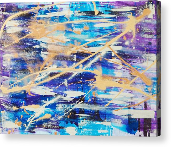 Abstract Acrylic Print featuring the painting Urban Footprint by Lauren Luna