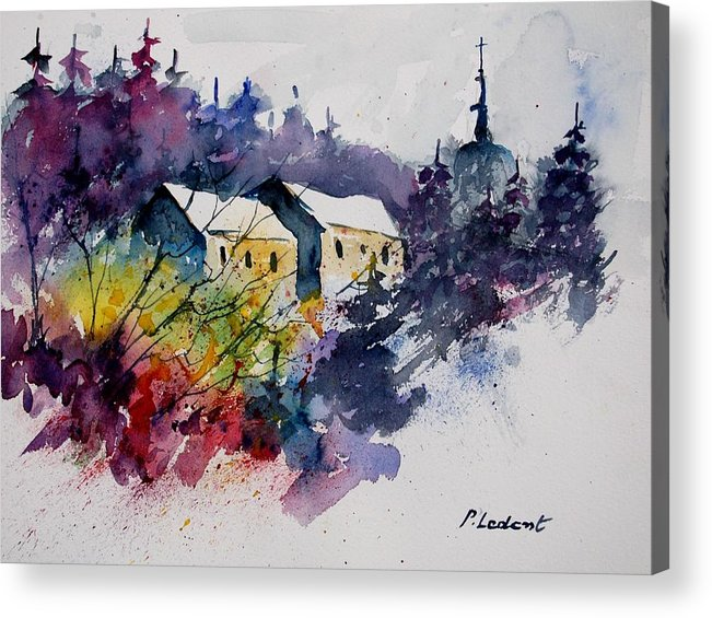 River Acrylic Print featuring the painting Watercolor 231207 by Pol Ledent