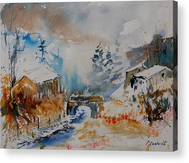 Tree Acrylic Print featuring the painting Watercolor 902102 by Pol Ledent