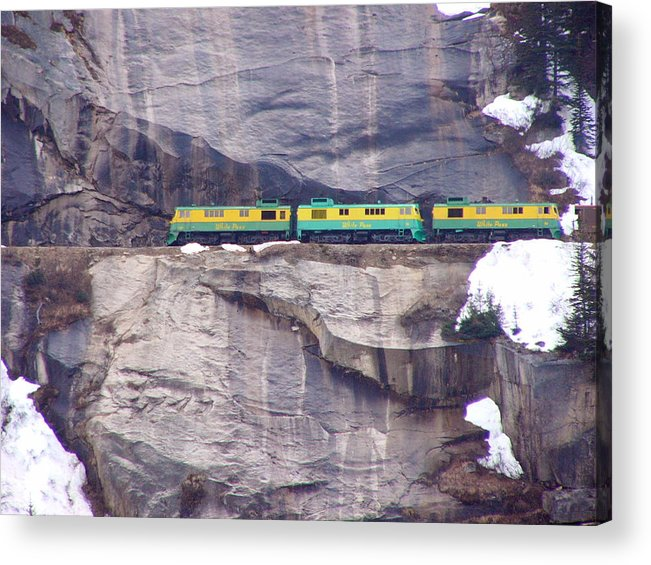 Train Acrylic Print featuring the photograph White Horse Pass by Kenna Westerman