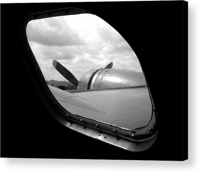 Airplane Acrylic Print featuring the photograph Wing And Window by Dan Holm