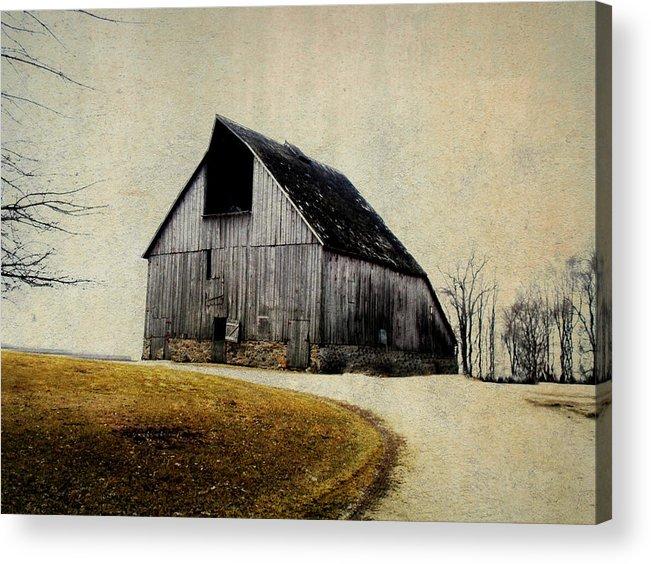 Barn Acrylic Print featuring the digital art Work Wanted by Julie Hamilton