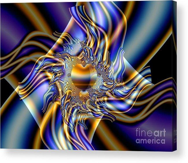Fractal Art Acrylic Print featuring the digital art X by Ron Bissett