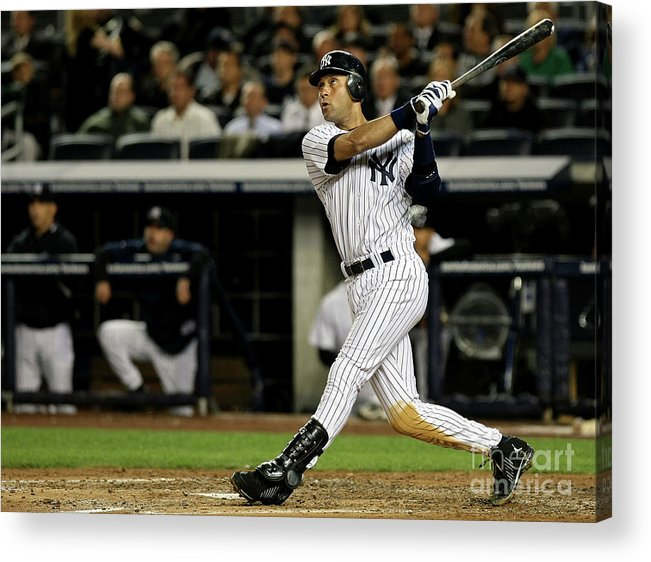 Playoffs Acrylic Print featuring the photograph Derek Jeter by Nick Laham