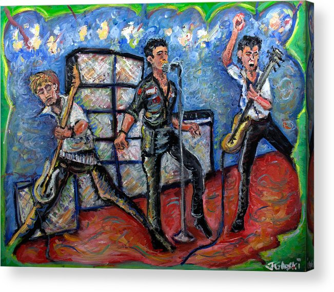 The Clash Acrylic Print featuring the painting Revolution Rock The Clash by Jason Gluskin