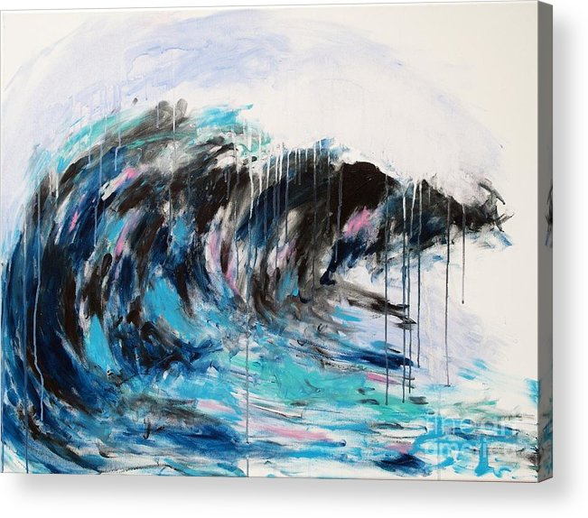 Abstract Acrylic Print featuring the painting Wave Number 3 by Lidija Ivanek - SiLa