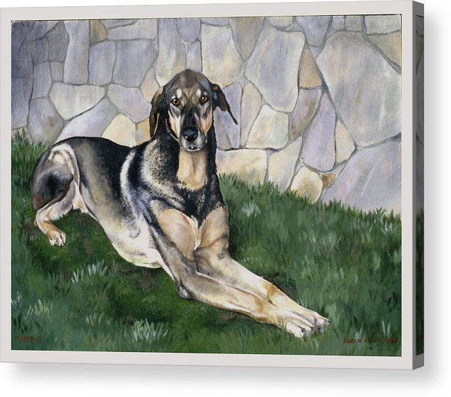 Portrait Acrylic Print featuring the painting Kyra by Eileen Hale