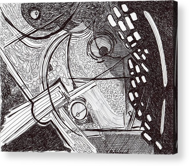 Drawing Acrylic Print featuring the drawing Minds Eye View by Todd Peterson
