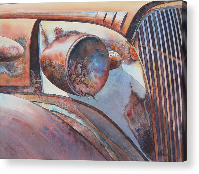 Thirty Seven Chevy Acrylic Print featuring the painting Nesting Place by Don Trout