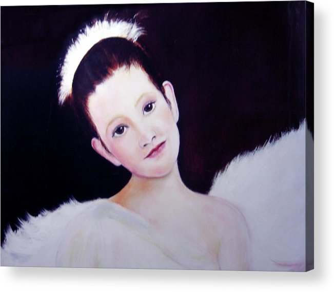 Angel Acrylic Print featuring the painting The Angel by Michela Akers