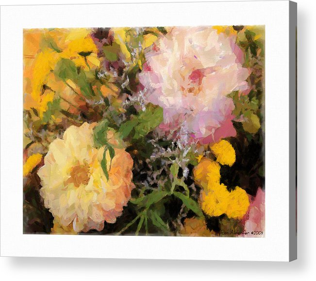 Digital Acrylic Print featuring the photograph Bouquet by Ron Alderfer