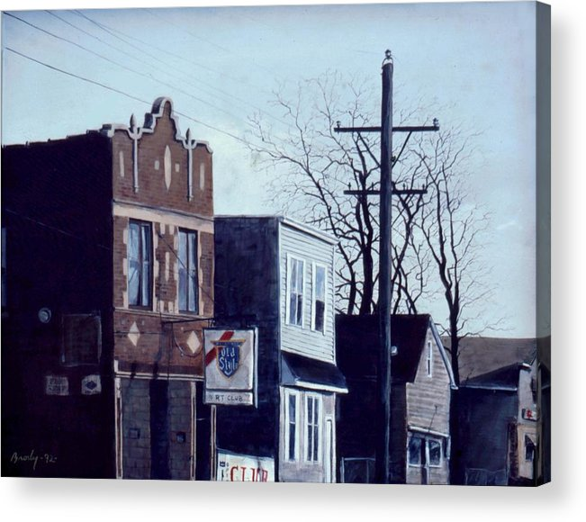 Urban Acrylic Print featuring the painting Halsted by William Brody