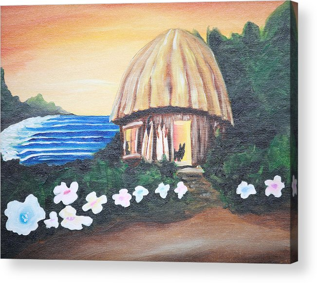 Surf Acrylic Print featuring the painting Home Sweet Home by Ronnie Jackson
