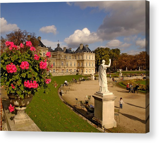 Luxembourg Palace Acrylic Print featuring the photograph Luxembourg Palace by Mick Burkey