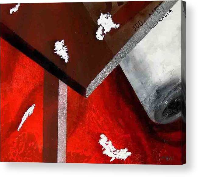 Acrylic Print featuring the painting Table Salt by Evguenia Men