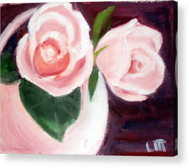 Roses Acrylic Print featuring the painting The Usual Suspects by Lia Marsman