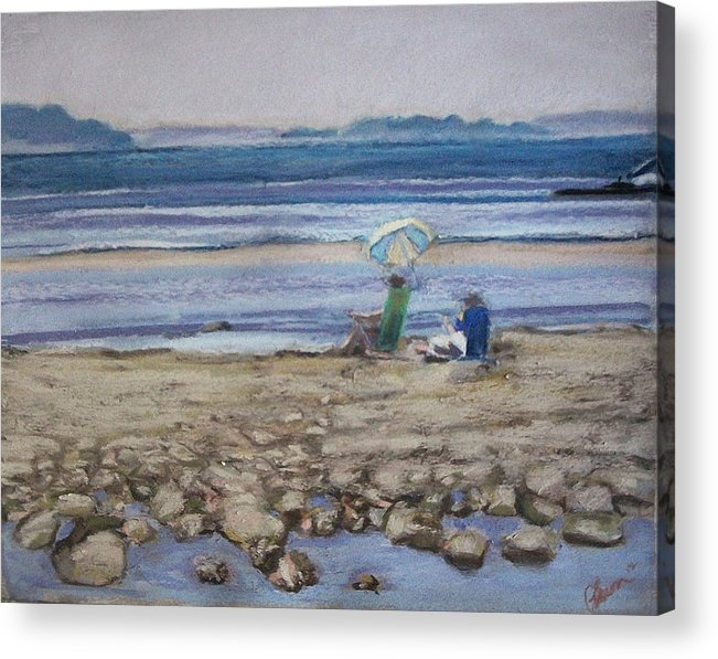 Mid-coast Maine Acrylic Print featuring the pastel Saltair by Grace Keown