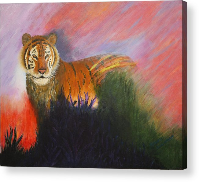 Tiger Acrylic Print featuring the painting Ruler Of The Sunderban by Denny Bingaman