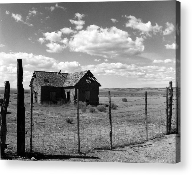 Old West Acrylic Print featuring the photograph Adobe Homestead by Allan McConnell