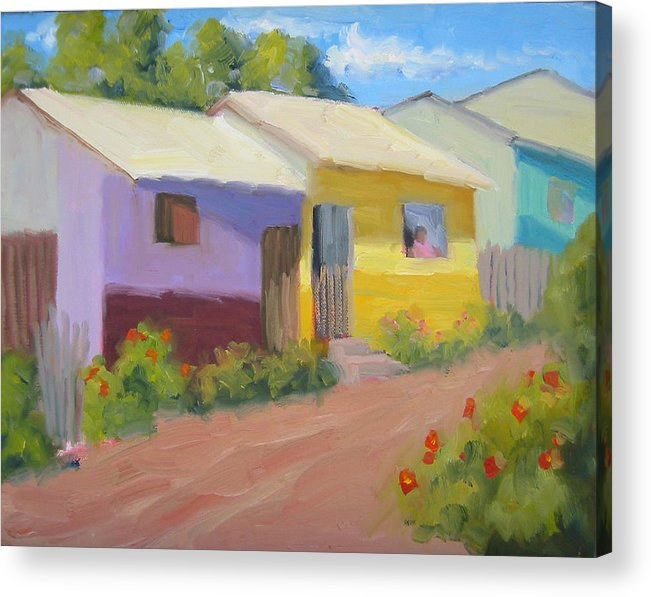 Honduras Acrylic Print featuring the painting Carmens Casa by Bunny Oliver
