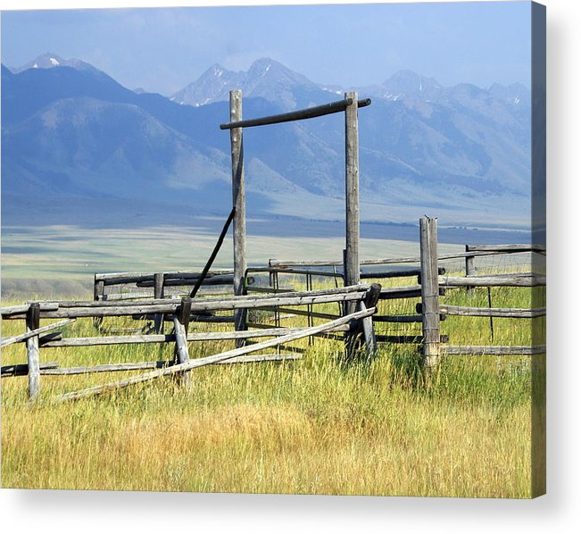 Mountains Acrylic Print featuring the photograph Don't Fence Me In by Marty Koch