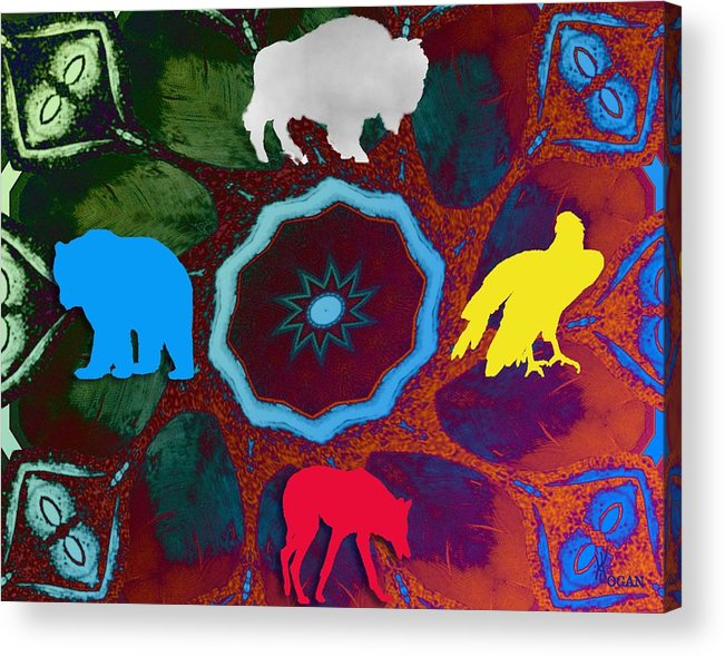 Wildlife Acrylic Print featuring the digital art Four Directions  -009 by Will Logan