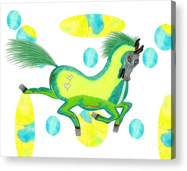 Horse Acrylic Print featuring the painting Imu by Tess M J Iroldi