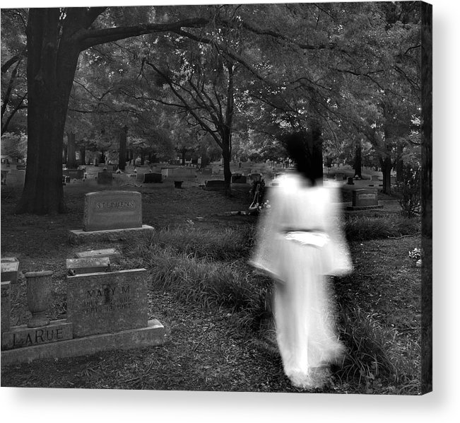 Cemetery Acrylic Print featuring the photograph Larue by Steve Parrott