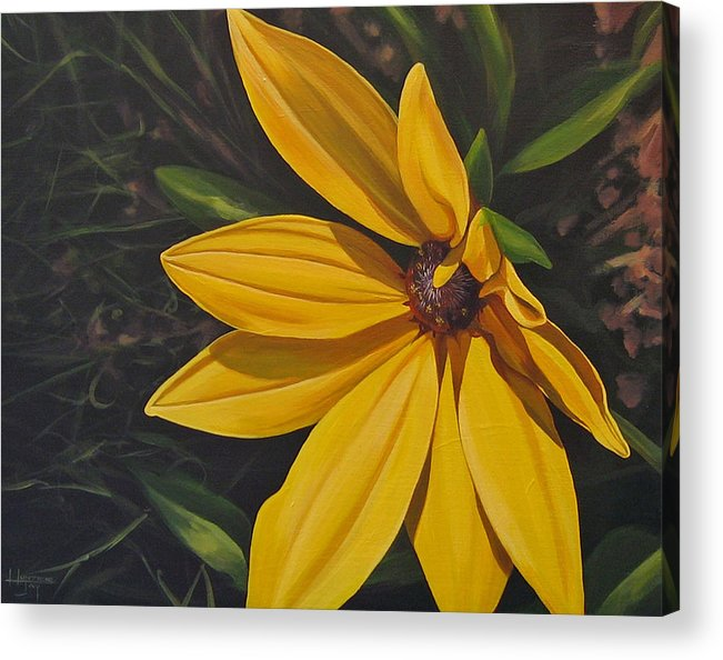 Wildflower Acrylic Print featuring the painting Sign Of Summer by Hunter Jay