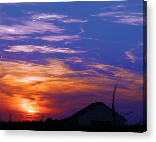 Sunset Acrylic Print featuring the photograph Visionary Sunset by Carl Perry