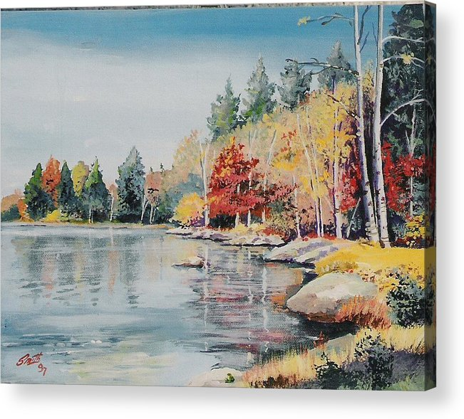 Landscape Acrylic Print featuring the painting Williams Lake by Barry Smith