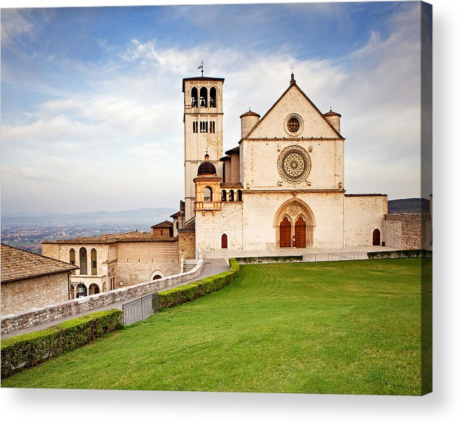 Italy Acrylic Print featuring the photograph Basilica Of Saint Francis by Susan Schmitz