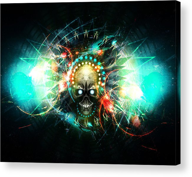 Skull Acrylic Print featuring the digital art Deadstep -vip by George Smith