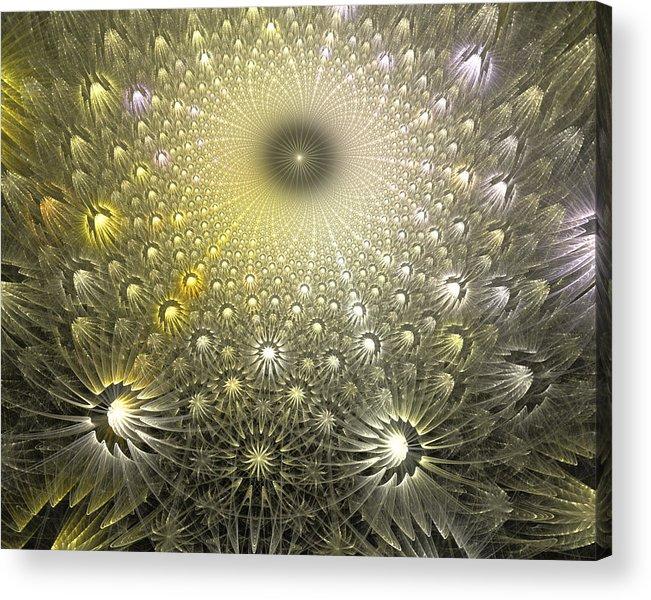 Fractal Acrylic Print featuring the digital art Dream On Little Dreamer by Drake Lock