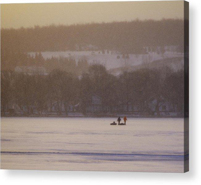 Canandaigua Lake Acrylic Print featuring the photograph Lake Crossing February 2010 by Joseph Duba