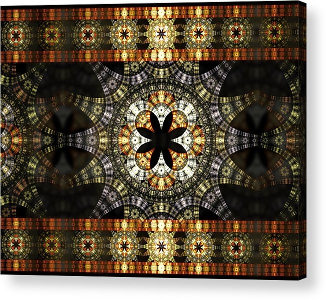 Fractal Acrylic Print featuring the digital art Luxor Sola by Drake Lock