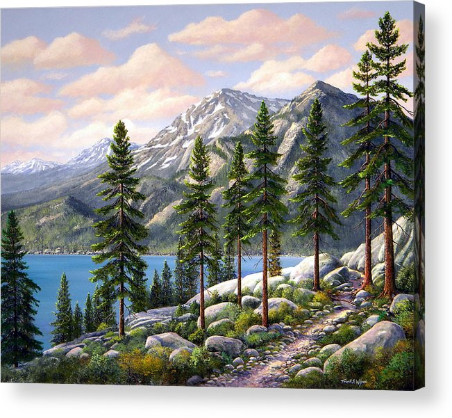 Landscape Acrylic Print featuring the painting Mountain Trail by Frank Wilson